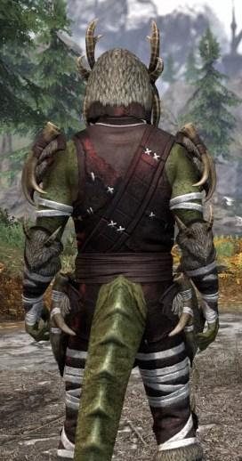 Ancestral Reach Light - Argonian Male Shirt Close Rear