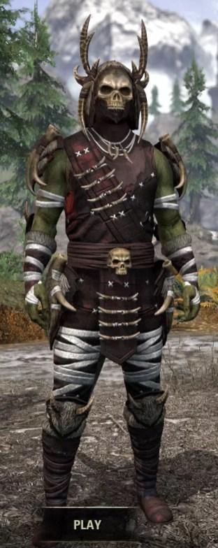 Ancestral Reach Light - Argonian Male Shirt Front