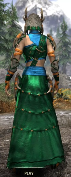 Ancestral Reach Light - Dyed Robe Rear