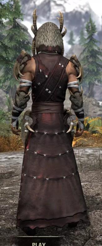 Ancestral Reach Light - Male Robe Rear