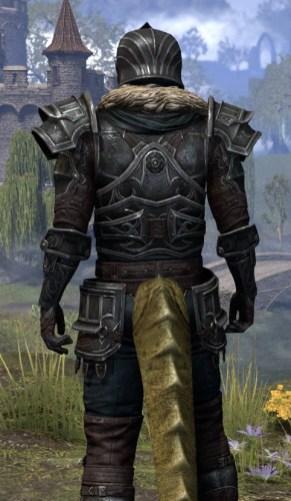 Ebonsteel Knight - Argonian Male Close Rear