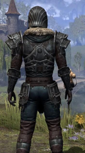 Ebonsteel Knight - Male Close Rear