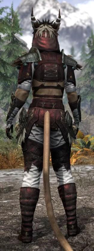 Wayward Guardian Medium - Khajiit Female Rear