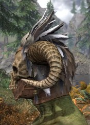 Witchwise Headdress - Argonian Male Side