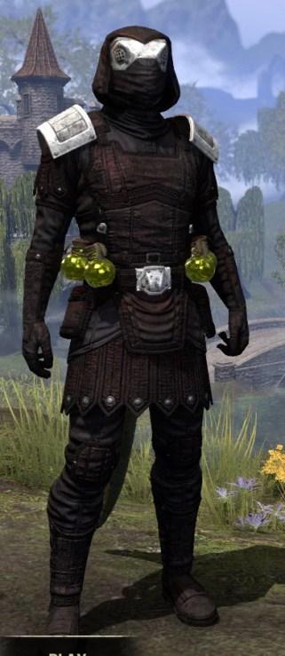 True-Sworn Medium - Argonian Male Front