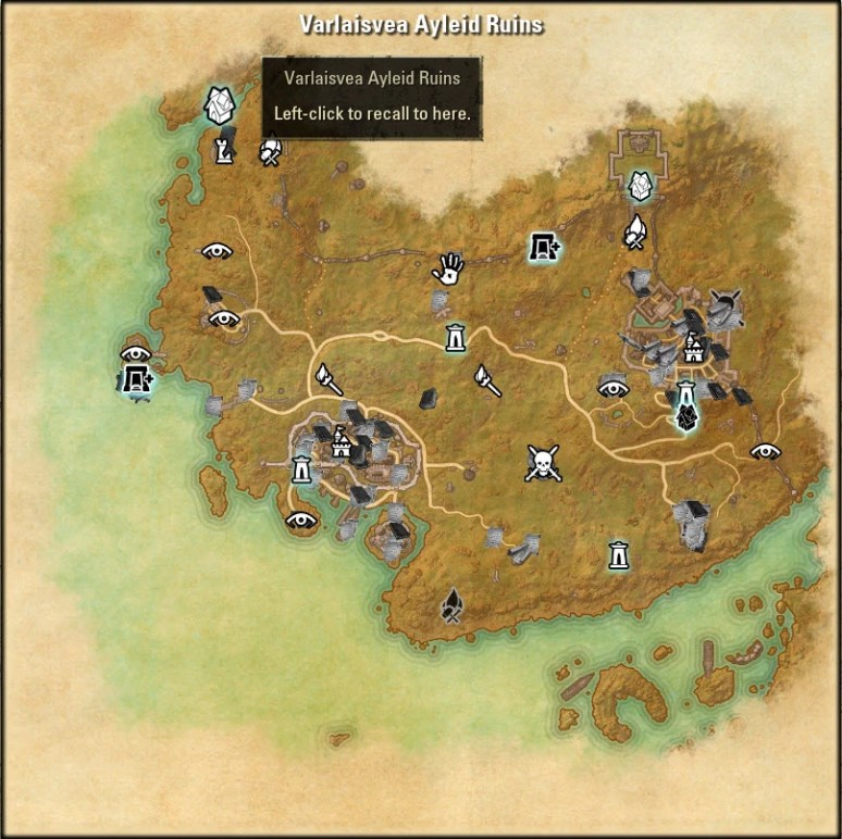 Varlaisvea Ayleid Ruins Map 1