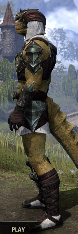 Waking Flame Light - Argonian Male Shirt Side