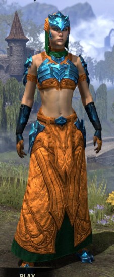 Waking Flame Light - Dyed Robe Front