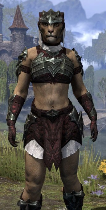 Waking Flame Light - Khajiit Female Shirt Close Front