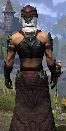 Waking Flame Light - Male Robe Close Rear