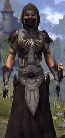 Wayward Guardian Ancestor Silk - Female Robe Close Frornt