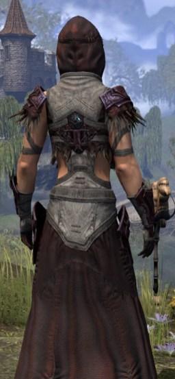 Wayward Guardian Ancestor Silk - Female Robe Close Rear