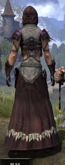 Wayward Guardian Ancestor Silk - Female Robe Rear