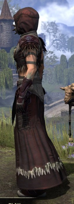 Wayward Guardian Ancestor Silk - Female Robe Side