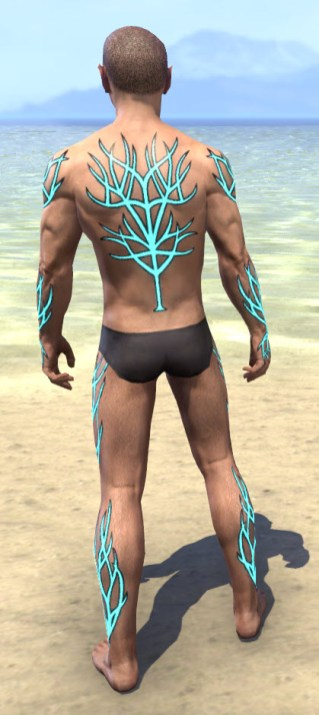Blessed Life-Tree Body Markings - Male Rear
