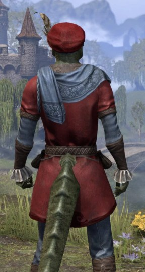 Day of Release Roister - Argonian Male Close Rear