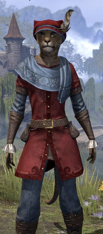Day of Release Roister - Khajit Female Close Front