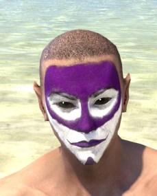 Prankster Purple Face Paint - Male Front