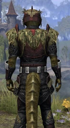 Black Fin Heavy - Argonian Male Close Rear