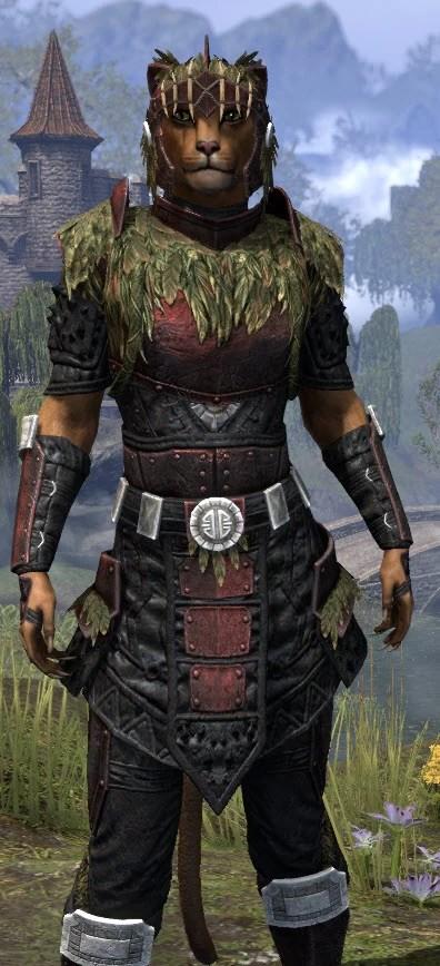 Black Fin Heavy - Khajiit Female Close Front