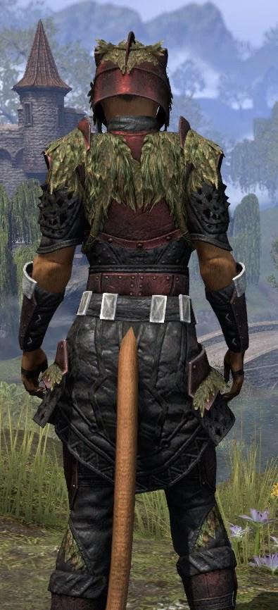 Black Fin Heavy - Khajiit Female Close Rear