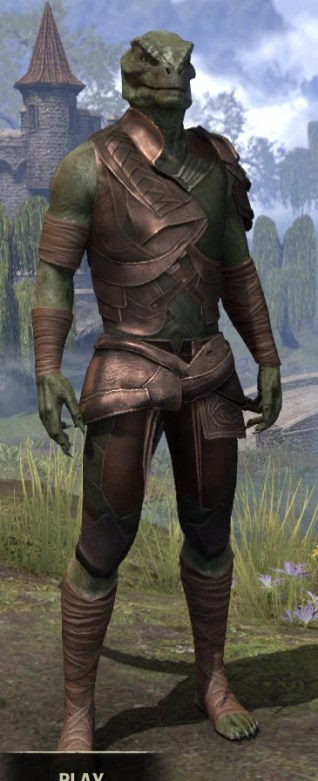 Eveli's Adventuring Leathers - Argonian Male Front