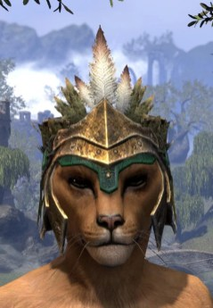 Helm of the Black Fin - Khajiit Female Front
