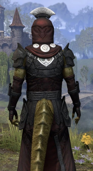 Ivory Brigade Light - Argonian Male Robe Close Rear