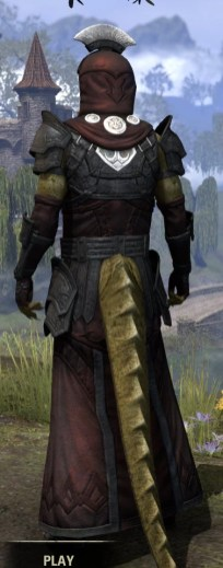 Ivory Brigade Light - Argonian Male Robe Rear