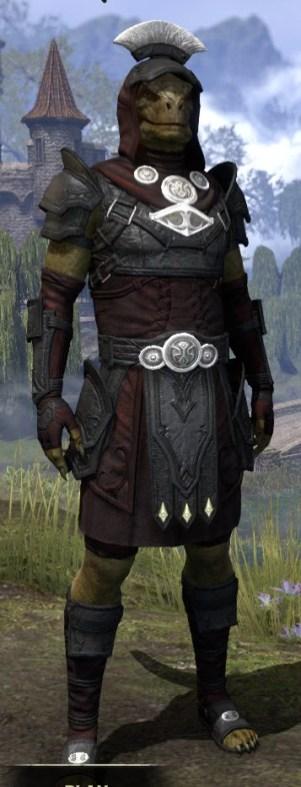 Ivory Brigade Light - Argonian Male Shirt Front