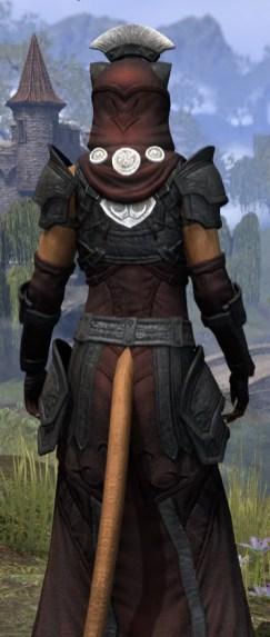 Ivory Brigade Light - Khajiit Female Robe Close Rear