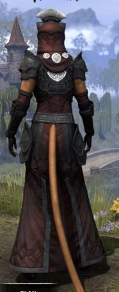 Ivory Brigade Light - Khajiit Female Robe Rear