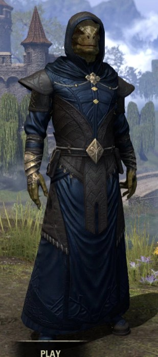 Nibenese Court Wizard - Argonian Male Front