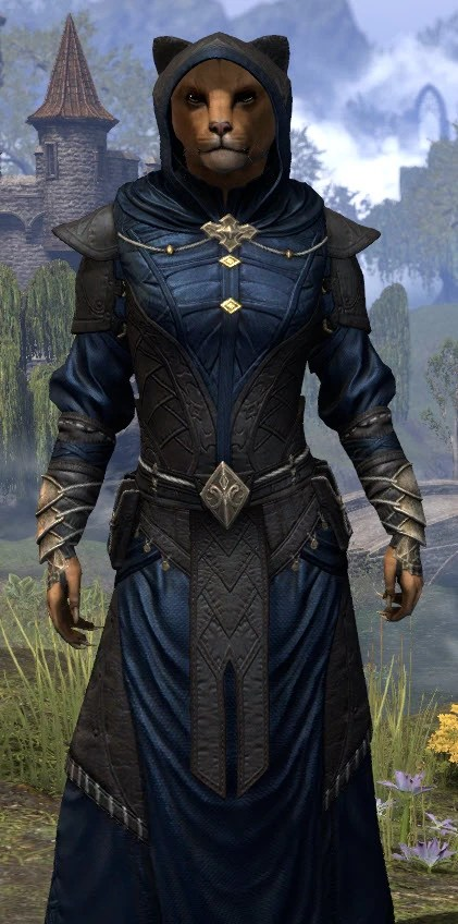 Nibenese Court Wizard - Khajiit Female Close Front