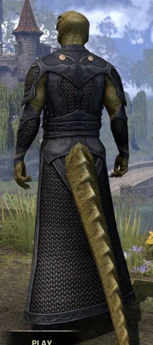 Thrafey Debutante Gown - Argonian Male Rear