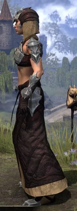 Waking Flame Ancestor Silk - Female Robe Side