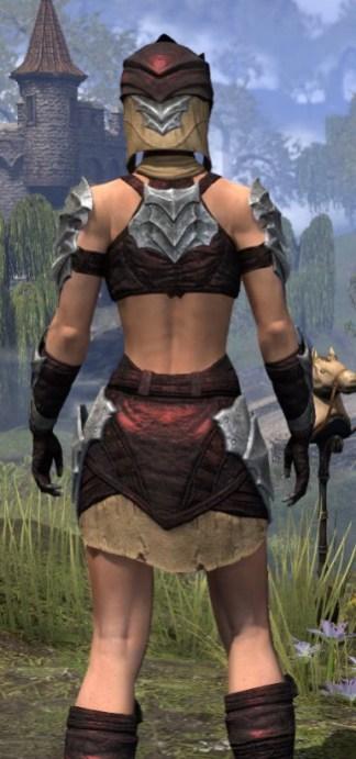 Waking Flame Ancestor Silk - Female Shirt Close Rear