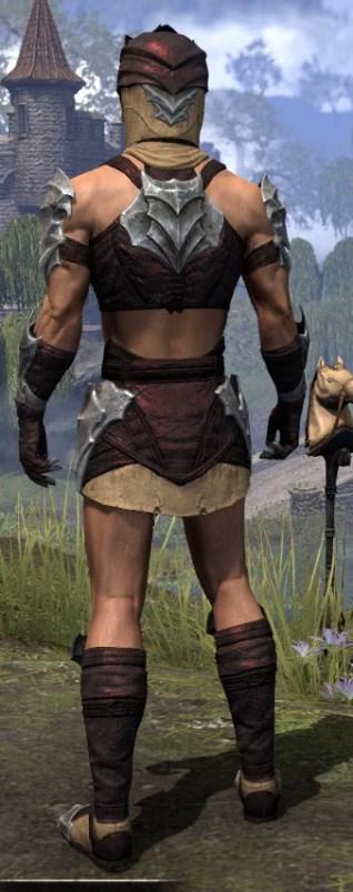 Waking Flame Ancestor Silk - Male Shirt Rear