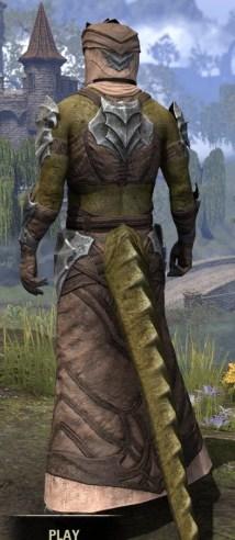 Waking Flame Homespun - Argonian Male Robe Rear