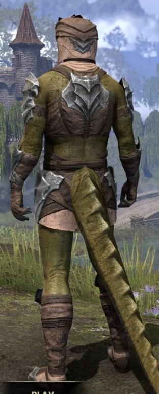 Waking Flame Homespun - Argonian Male Shirt Rear