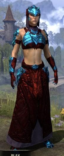 Waking Flame Homespun - Dyed Robe Front
