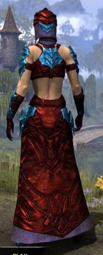 Waking Flame Homespun - Dyed Robe Rear