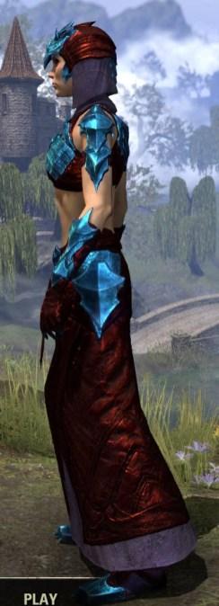 Waking Flame Homespun - Dyed Robe Side