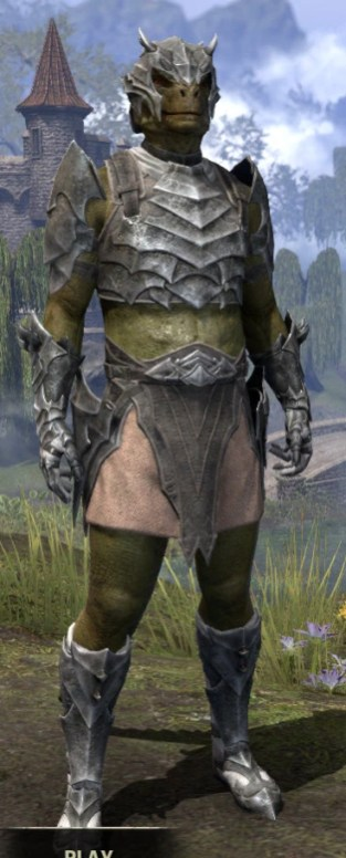 Waking Flame Iron - Argonian Male Front
