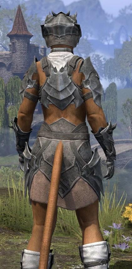 Waking Flame Iron - Khajiit Female Close Rear