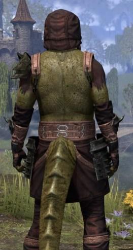 Crimson Oath Light - Argonian Male Shirt Close Rear