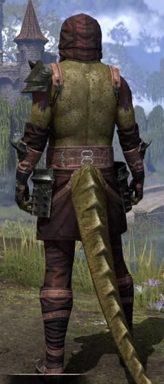 Crimson Oath Light - Argonian Male Shirt Rear