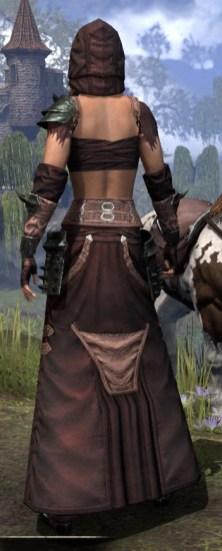 Crimson Oath Light - Female Robe Rear