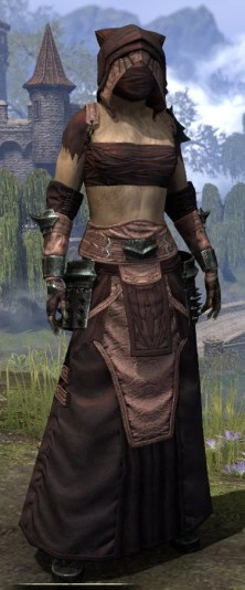 Crimson Oath Light - Khajiit Female Robe Front