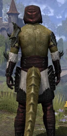 Crimson Oath Medium - Argonian Male Close Rear